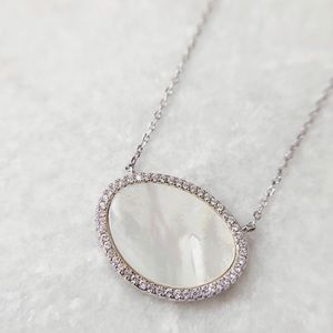Juno CZ Mother of Pearl Sterling Silver Necklace